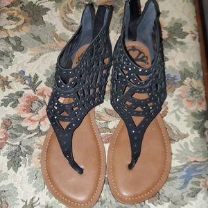 NEW Black Studded Fergalicious Sandal Size 9 US